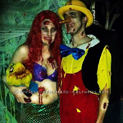 Coolest Handmade Zombie Ariel Costume