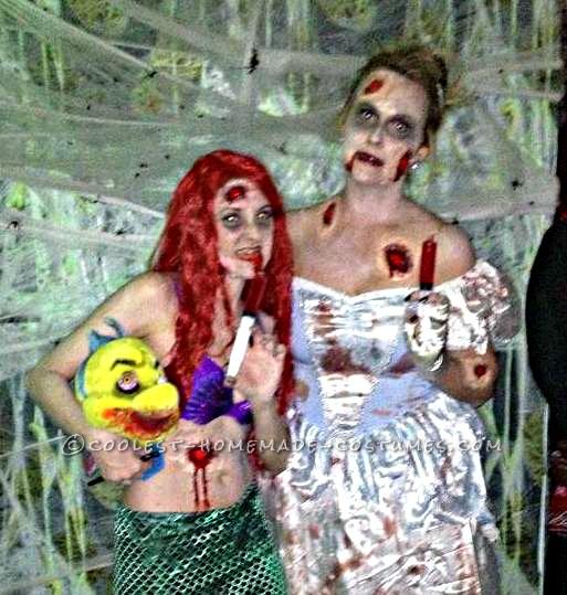 Coolest Handmade Zombie Ariel Costume - 2
