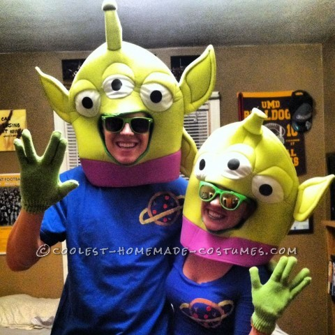 Crowd-Pleasing Little Green Alien Couple Toy Story Costume