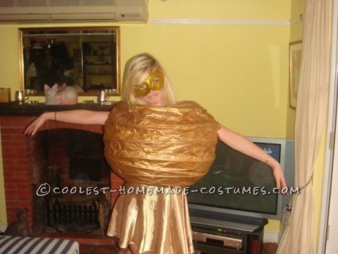 Coolest Homemade Golden Snitch Costume