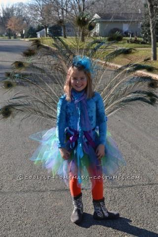 Proud Peacock - Homemade Girls Costume