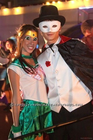 Coolest Sailor Jupiter and Tuxedo Mask Couple Costume