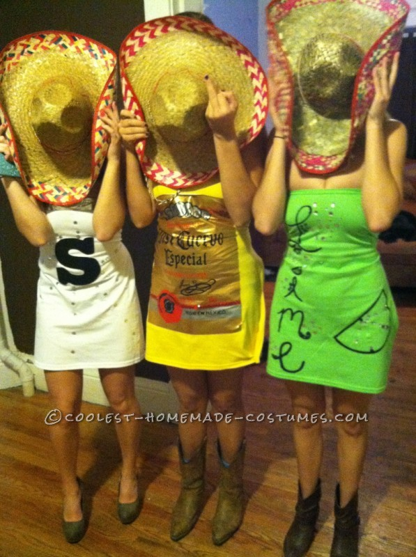 Tequila Makes Our Clothes Fall Off Group Costume: Salt, Tequila and Lime