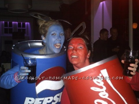 The Pepsi and Coke Can Duo Couple Costume