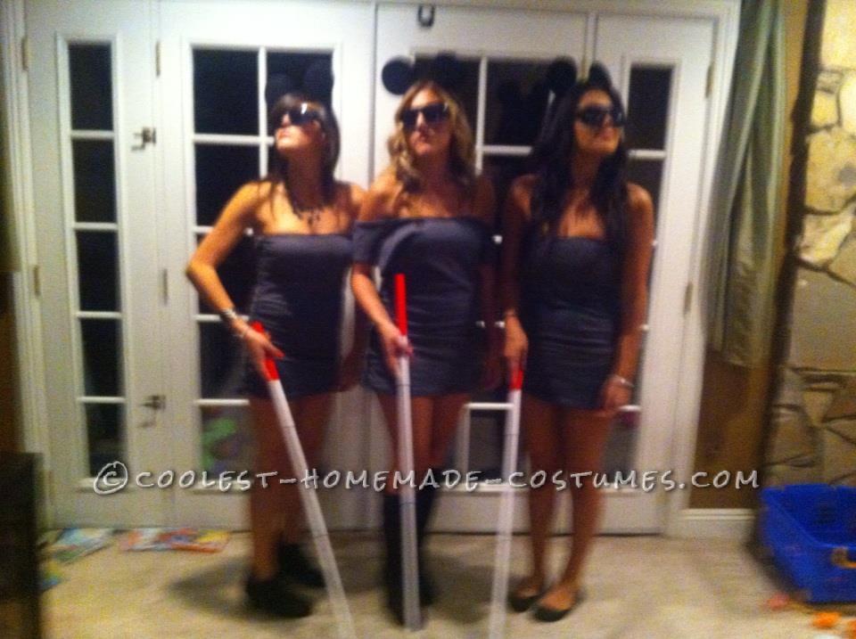 Last-Minute Three Blind Mice Girls Group Costume