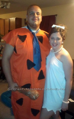 Coolest Wilma and Fred Flintstone Couple Costume
