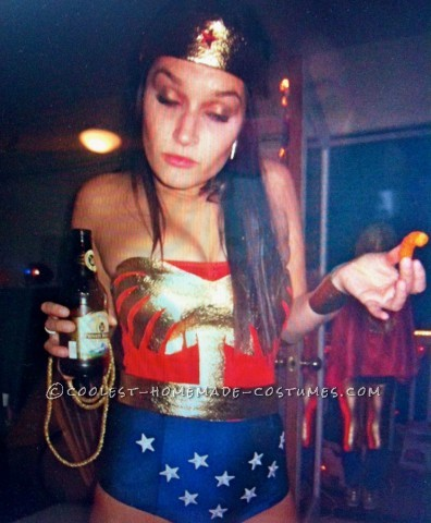 Sexy Homemade Wonder Woman Costume