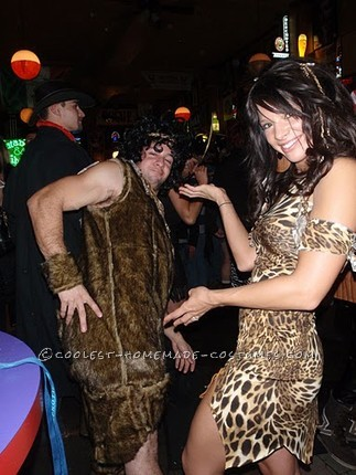 Coolest Cave-Woman and Cave-Man Couple Costume - 1