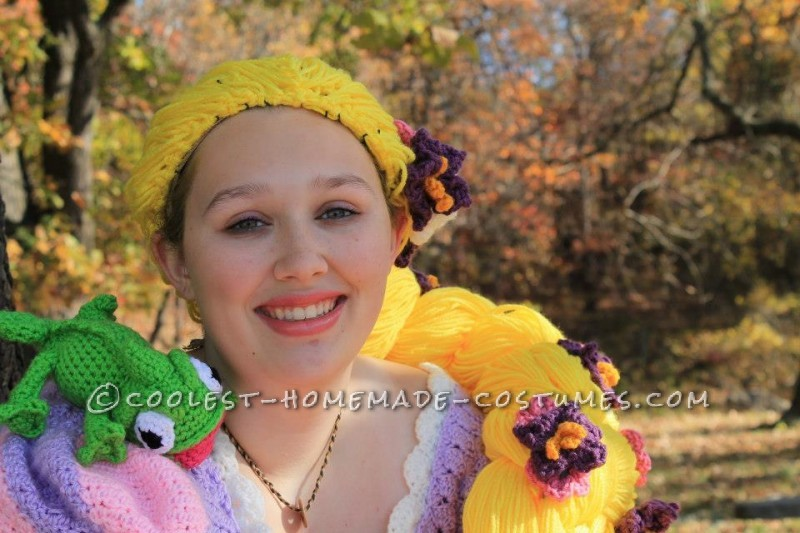 Crocheted Rapunzel Halloween Costume - 9