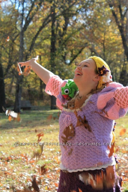 Crocheted Rapunzel Halloween Costume - 8