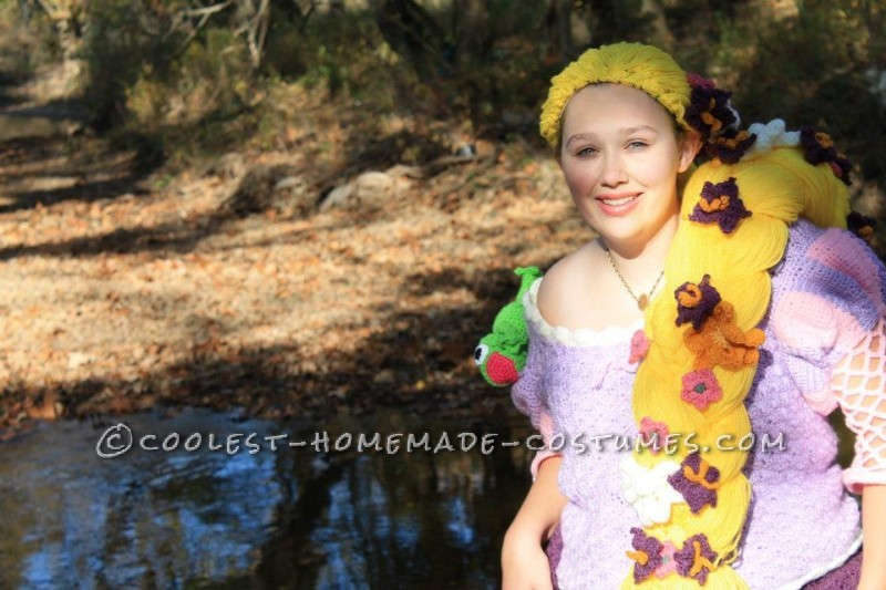 Crocheted Rapunzel Halloween Costume - 7
