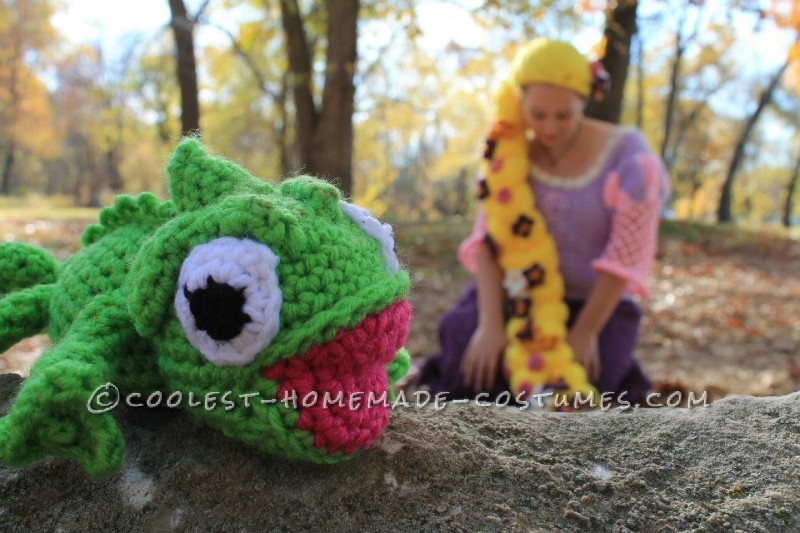 Crocheted Rapunzel Halloween Costume - 6