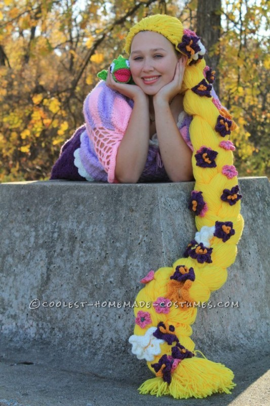 Crocheted Rapunzel Halloween Costume
