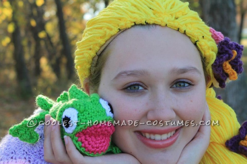 Crocheted Rapunzel Halloween Costume - 3