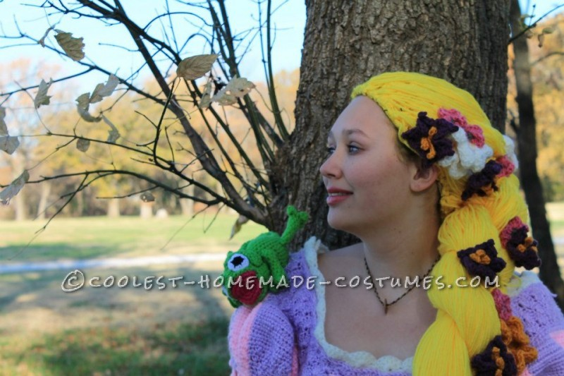 Crocheted Rapunzel Halloween Costume - 1