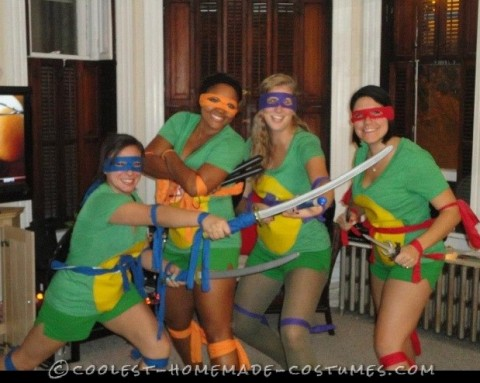 Easy Adult Sexy Ninja Turtle Costumes aka TMNT