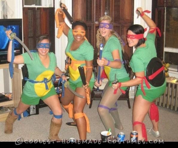 Easy Adult Sexy Ninja Turtle Costumes aka TMNT