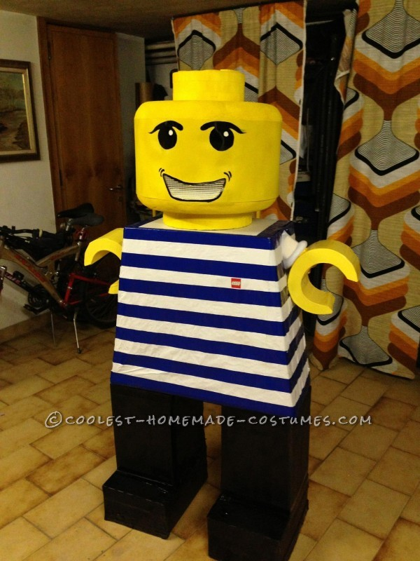Coolest Homemade LEGO Minfigures and Blocks Group Costume
