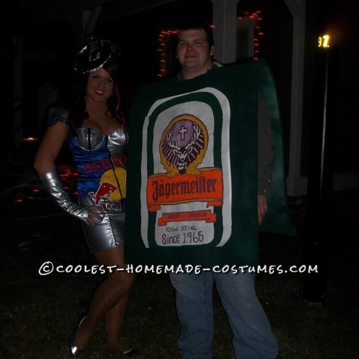 Cool Homemade Jager Bomb Couples Costume