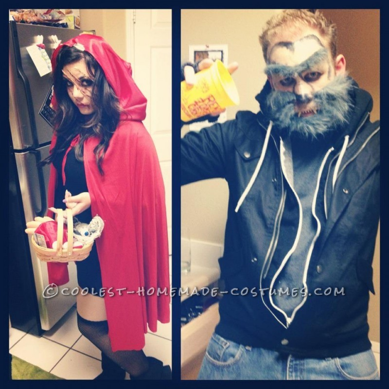 Little Dead Riding Hood and the Big Bad Wolf Couple Costume