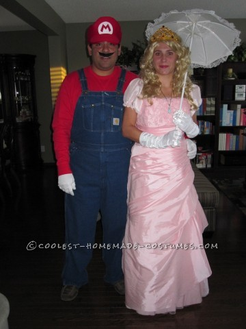 Coolest Princess Peach and Mario Couple Costume