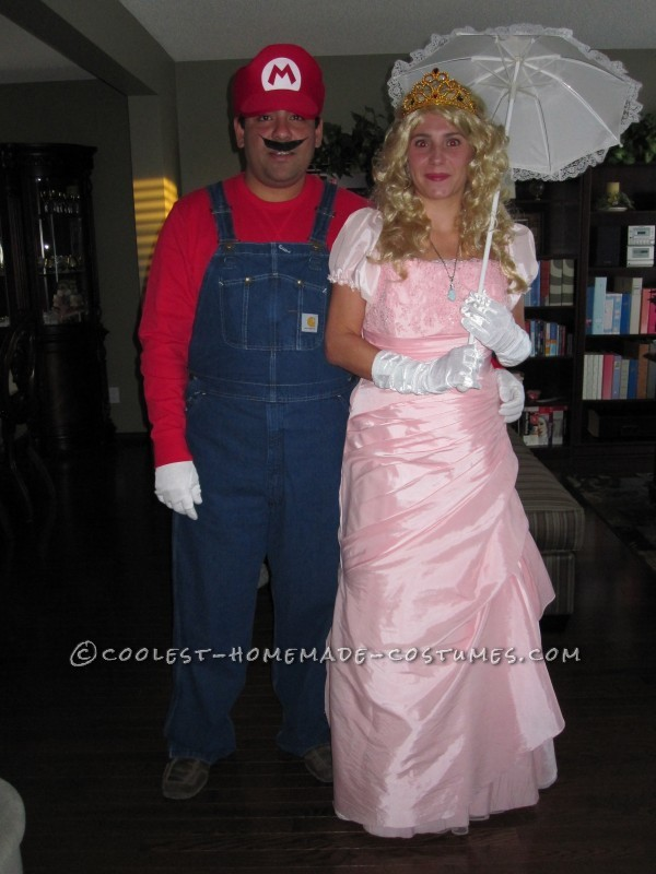 Coolest Princess Peach and Mario Couple Costume