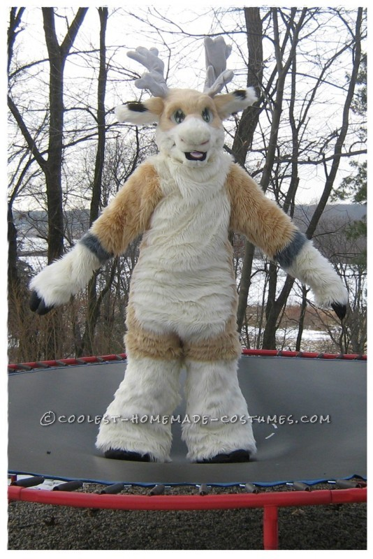 Coolest Handmade Reindeer Fursuit Costume - 1