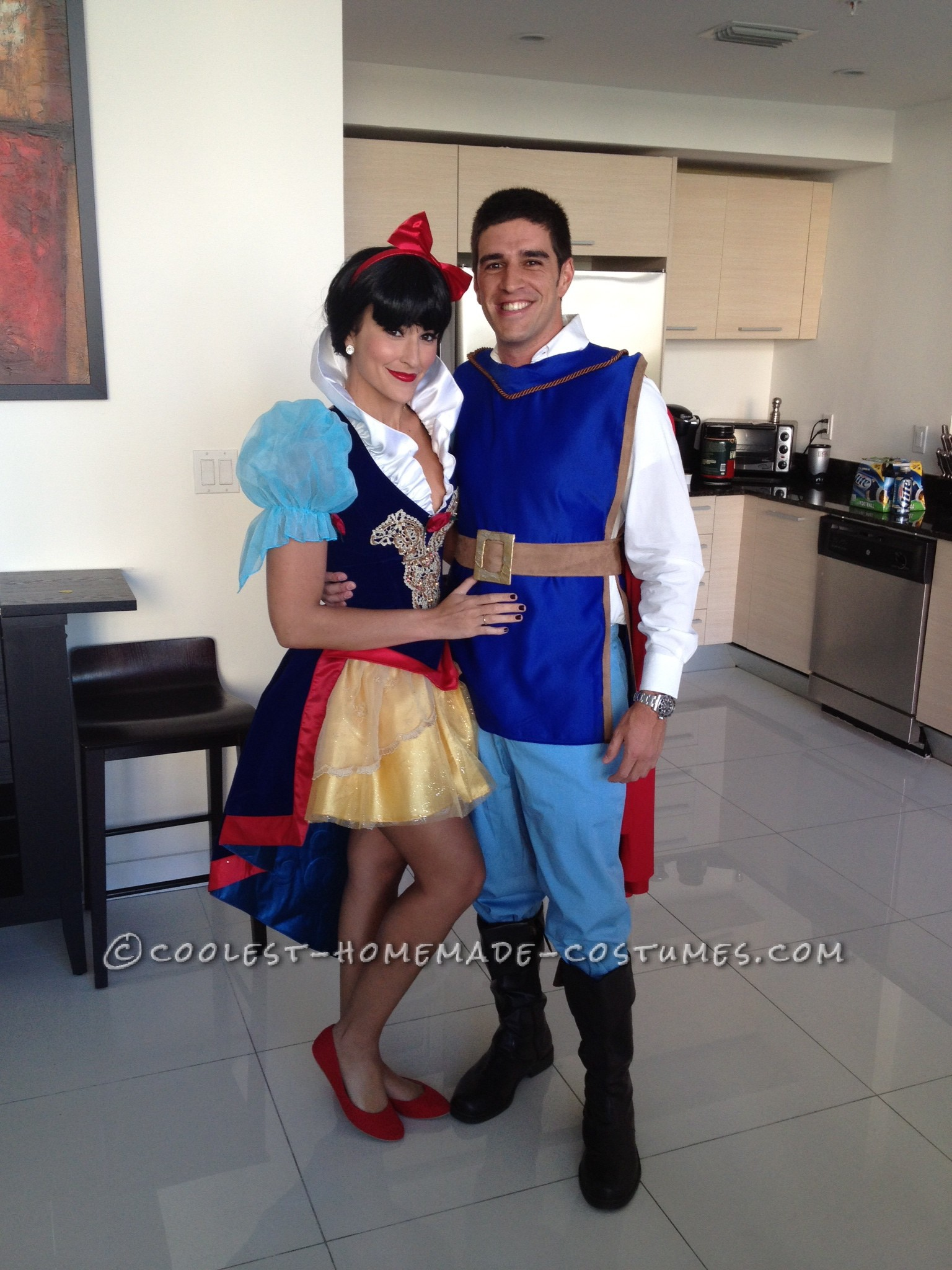 Prince Charming 100% Homemade Costume and Snow White (Purchased Online)