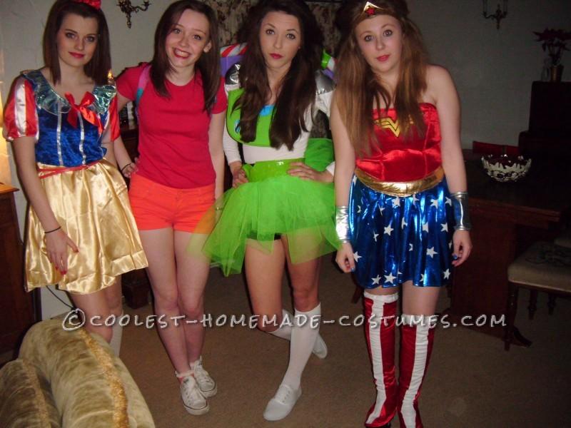 + Snow White, Dora and Wonderwoman