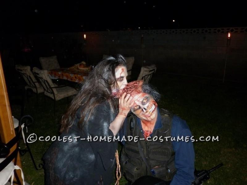 Scary Open-Head Zombie Halloween Costume - 8