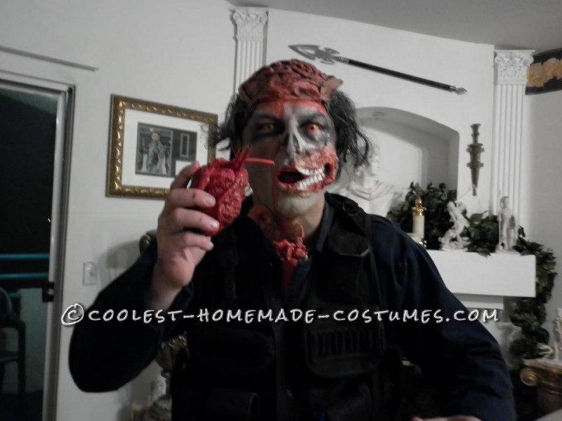 Scary Open-Head Zombie Halloween Costume - 7