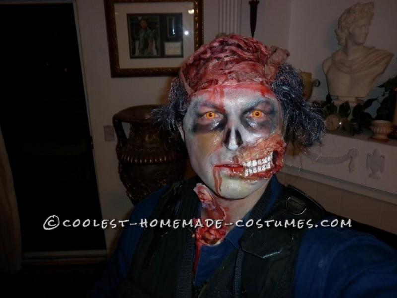 Scary Open-Head Zombie Halloween Costume - 6