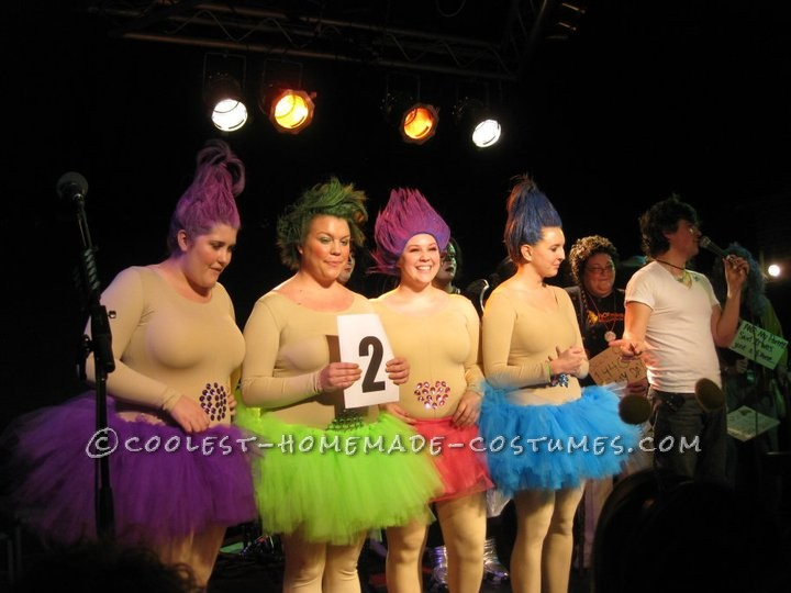 Coolest Homemade Treasure Trolls Girl Group Costume