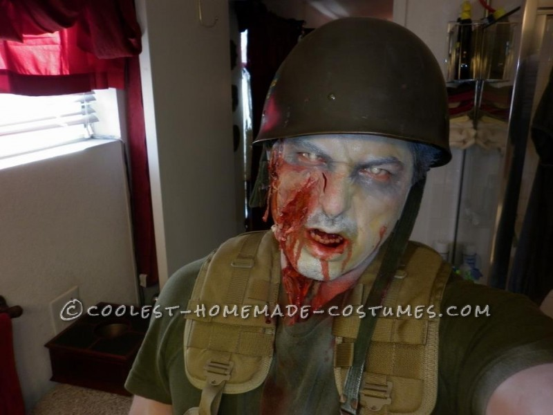 Creepy Zombie Soldier Costume - 1
