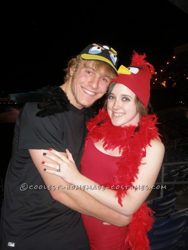 Last-Minute Angry Birds Couple Costume