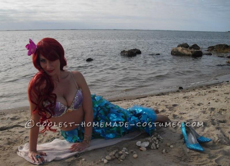 Sexy Homemade Ariel Halloween Costume