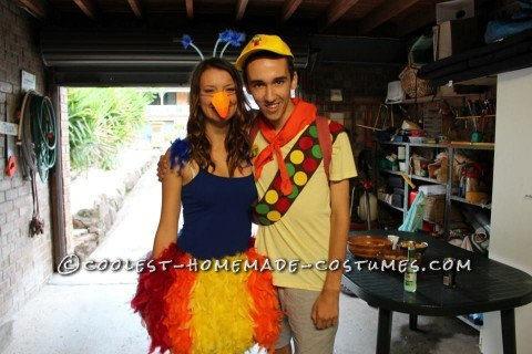 Cute Couple Costume: Kevin and Russell from Disney Pixar's Up