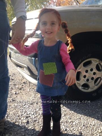 Cute Homemade Pippi Longstocking Costume