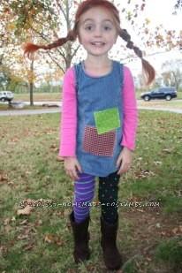 Cute Homemade Pippi Longstocking Costume - 1