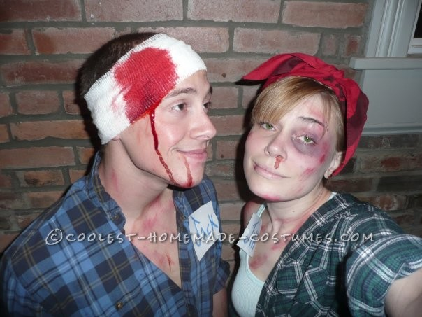Cool Last-Minute Couples Costume: Jack and Jill AFTER the Hill