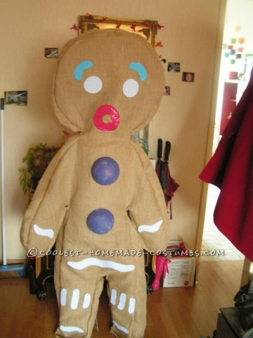 Cool Homemade Gingerbread Man Costume