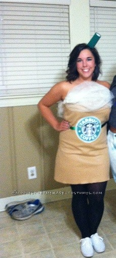 Last-Minute Starbuck's Frappaccino Homemade Costume - 1