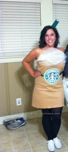 Last-Minute Starbuck's Frappaccino Homemade Costume