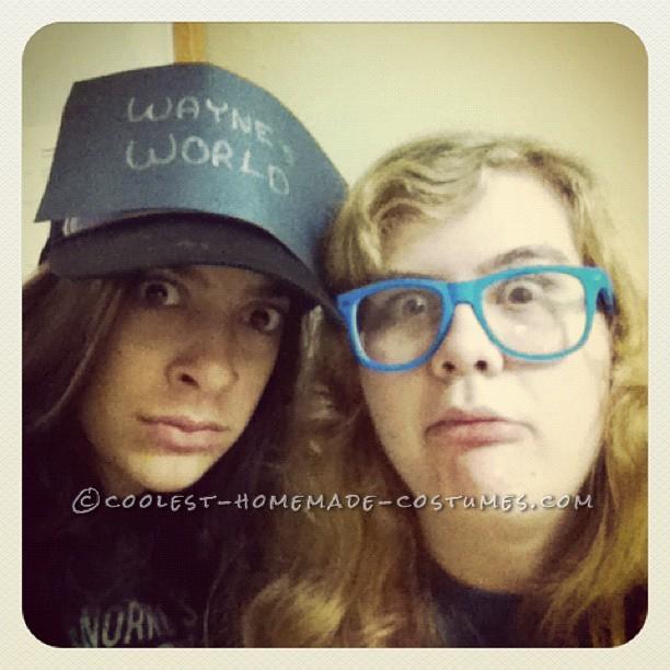 Last-Minute Homemade Wayne and Garth Couples Halloween Costume