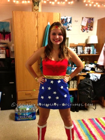 Cool Homemade Wonder Woman Costume
