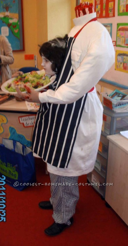 Awesome Headless Illusion Costume: A Headless Butcher Goes to School - 1