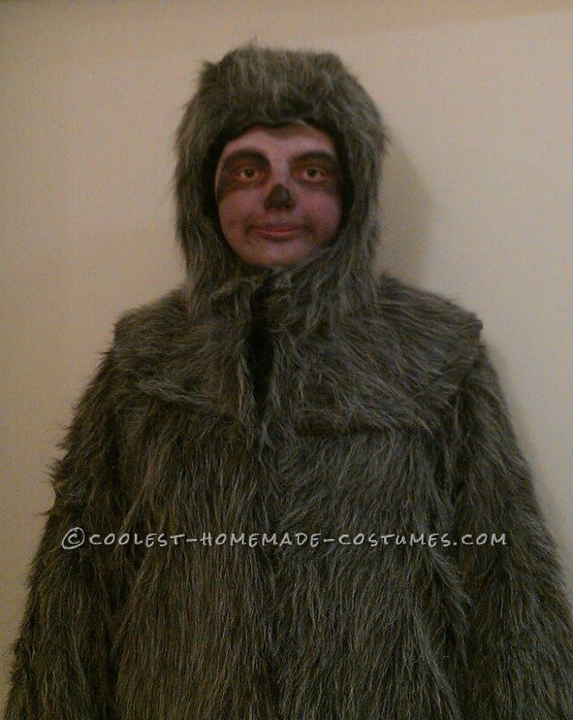 Awesome Homemade Sloth Costume