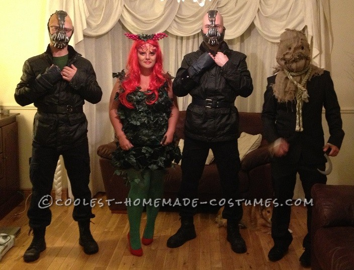Coolest Batman Villains Group Costume: Poison Ivy, Bane, Scarecrow