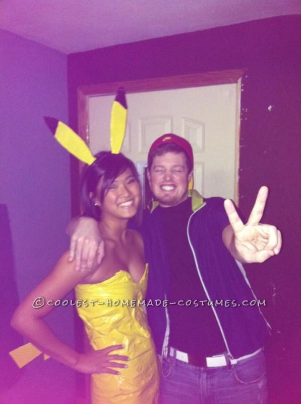 Cutest Ash and Pikachu Halloween Couple's Costume!