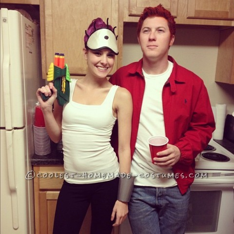 Easy, Cheap and Homemade Futurama Couple's Costume